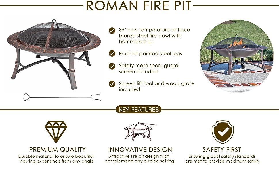 Fire Pit Firepit Fireplace Patio Outdoor Fire bonfire aluminum fire sense log burner antique stool