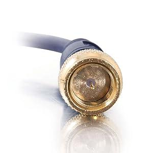 Velocity Mini-Coax F-Type Cable, Blue (