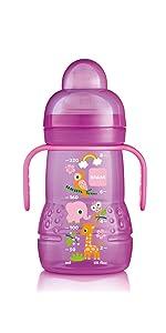MAM Anti-Colic Bottle, 9 oz., 2-Count, Girl · MAM Easy Active Bottle, 11  oz., 2-Count, Girl, MAM Trainer Bottle, 8 oz., 1-Count, Girl, MAM Starter  Cup, ...