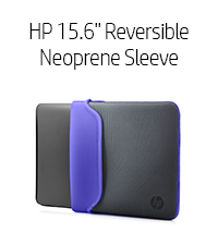 "HP 15.6"" Reversible Neoprene Sleeve - Purple (Chroma, V5C32AA)"