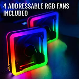 Addressable RGB Fans Included