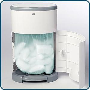 dekor hands-free diaper pail easy-access service door