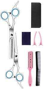 Haircutting Barber Salon Shears Mustache Beard Hairdresser Styling Thinning Trimming Hair Cutting Ki