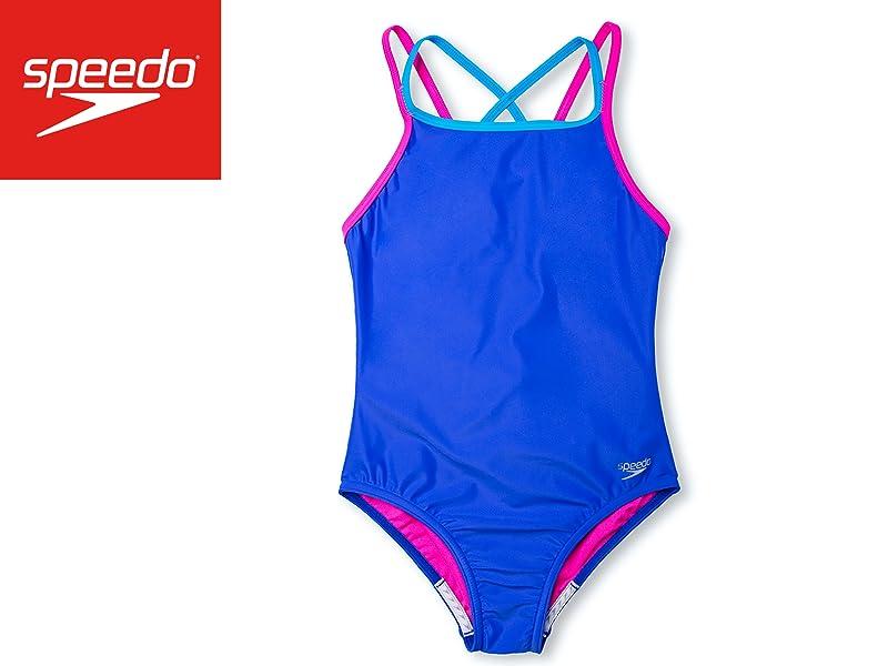 852bf07bf0321 Amazon.com   Speedo Girls Crossback One Piece Swimsuit   Sports ...