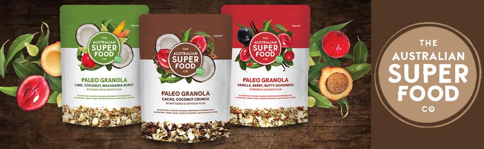 Granola Paleo Cereal Organic Natural Grain Gluten Free Healthy Breakfast snacks Non GMO Protiens