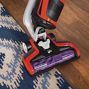 multifloor brushroll on off hard floor carpet rug awesome lightweight powerful upright vacuum