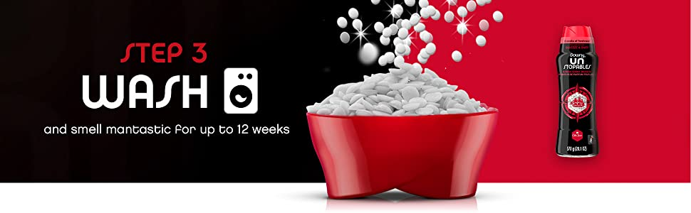 step 3 wash and smell mantastic for up to 12 weeks, old spice unstopables scent boosting beads