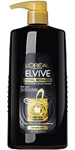 total repair shampoo, elvive shampoo, repairing shampoo, shampoo for split ends