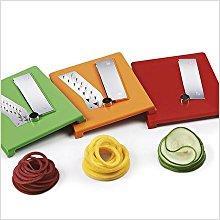 OXO Good Grips Spiralschneider, Kunststoff, weiß, grün, orange, rot 2
