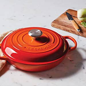 Le Creuset Braiser in Flame Color