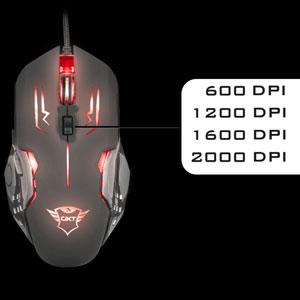 Mouse Gamer LED GXT 108 Rava 6 botões 2000dpi - Trust