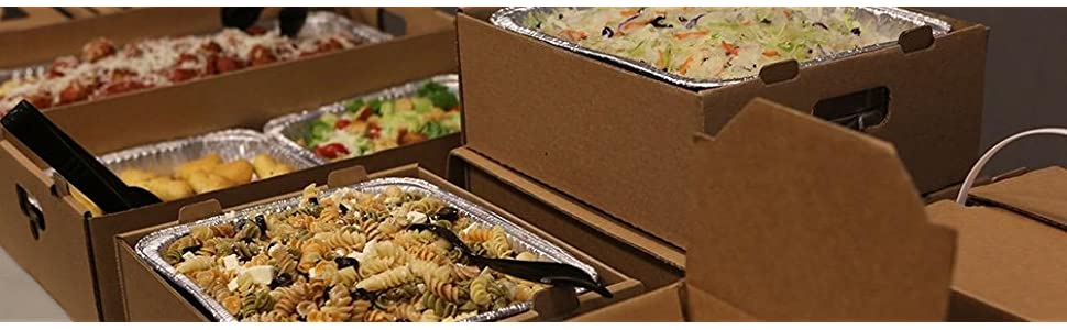 Southern Champion Tray 1180 12 Kraft Corrugated Flared Square Catering Tray with Window Lid Case of 20 Top Dimensions 15 x 15 x 3-3//4