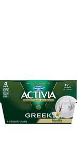 ... Dannon Activia Greek Nonfat Yogurt, Vanilla ...