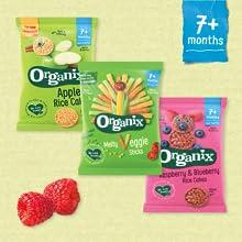 Organix, rice cakes, veggie sticks, baby food, toddler food, baby snacks, toddler snacks, fingerfood