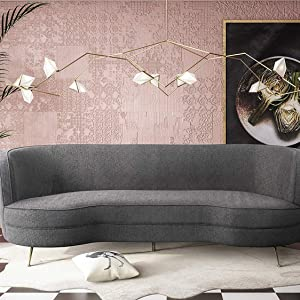 TOV Furniture TOV-L6192 Flare Modern Glam Curved Living Room Sofa, 91\