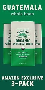 Chameleon Organic Guatemala Whole Bean Coffee