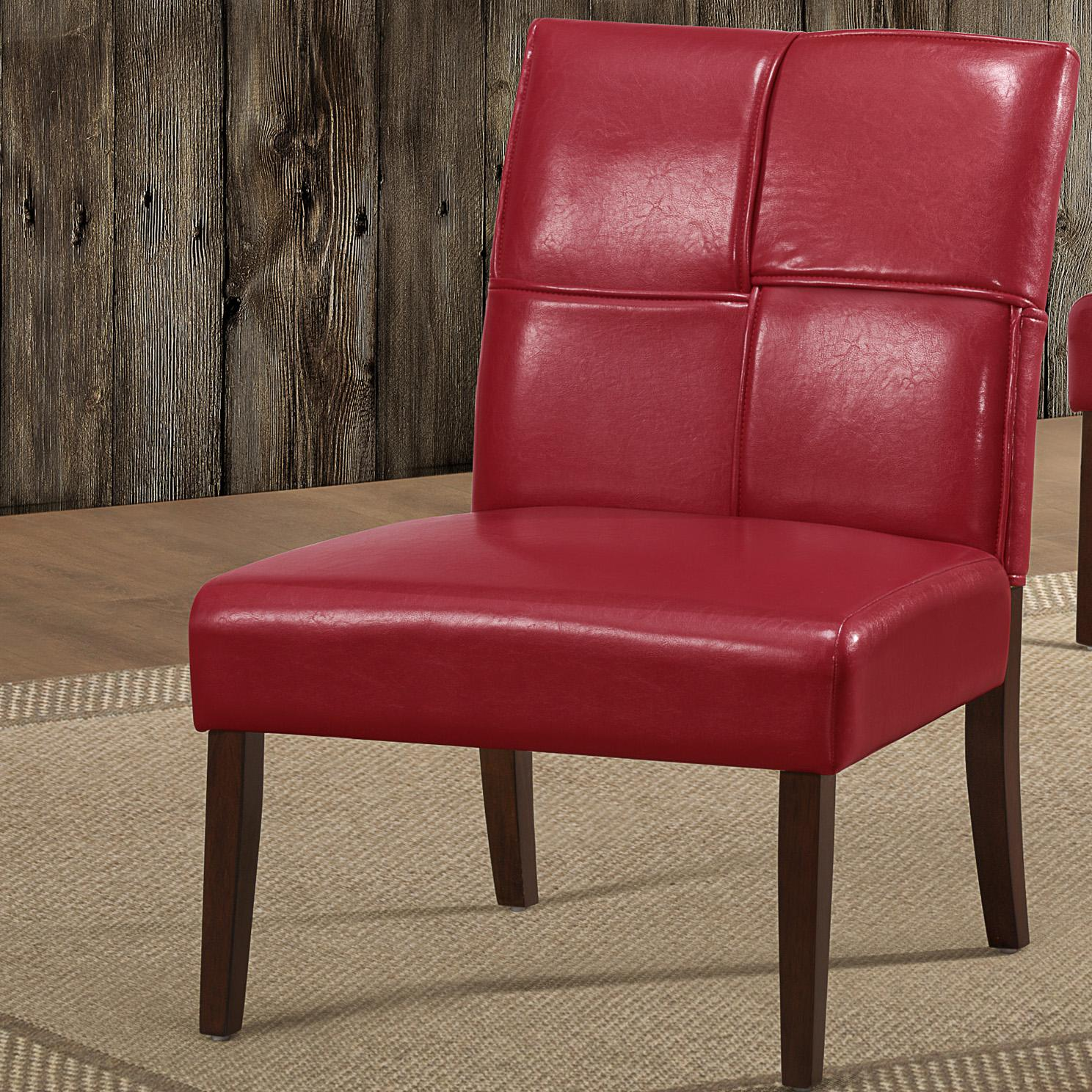 Red Chisese Accent Chair: Amazon.com: Homelegance 1215RDS Armless Accent Chair, Red