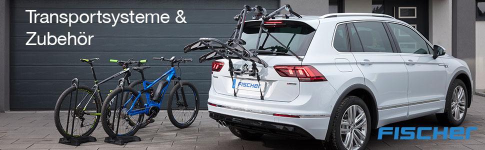 Fischer Auto Dach Fahrradträger TÜv Gs Geprüft Geeignet Für Ein Fahrrad Beladung Bis 15 Kg Abschließbar Silber Auto
