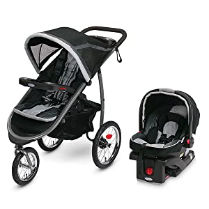 Graco FastAction Fold Jogger Click Connect Travel System, Gotham