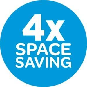 Ziploc Cube Bags - 4x Space Saving