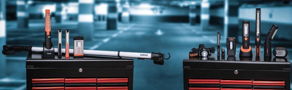 OSRAM LED Akku Arbeitsleuchte LEDinspect Flashlight 15 für Zigarettenanzünder