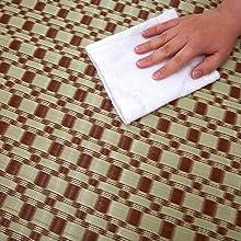 ルイス ブラウン 茶 茶色 水拭きイメージ PP ラグ 花ござ 上敷き カーペット 床 保護 汚れ きず 隠す 和室 洋室 模様替え 子供 ペット 介護 水洗いできる