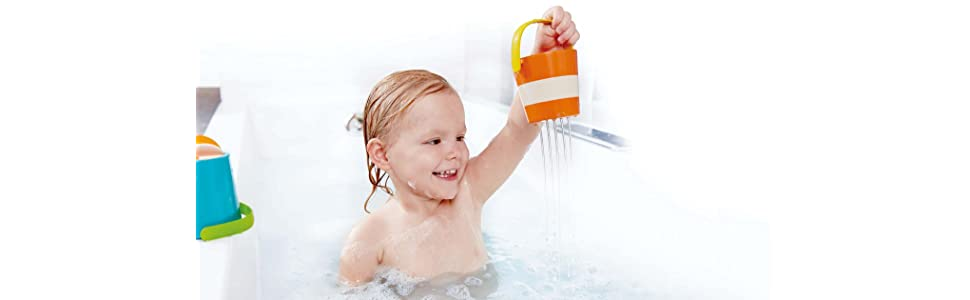 Amazon.com: NEW 2017 Hape Kids Little Splashers Happy Buckets Set ...