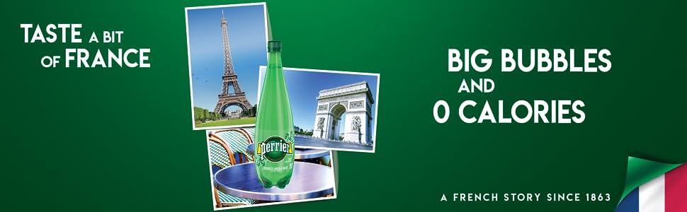 Perrier Sparkling Natural Mineral Water 1L Plastic France Big Bubbles 0 calories