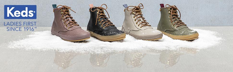 Keds Womens Scout Boot Splash Twill Wx Sneaker