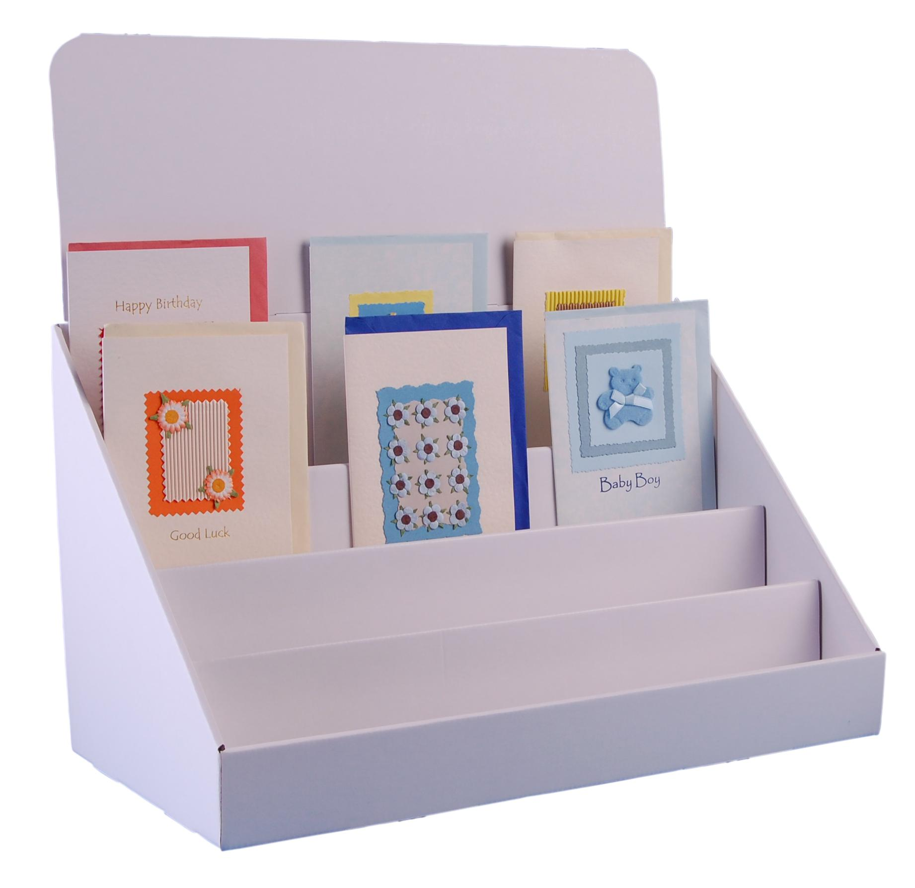 Stand Store 18 Inch 4 Tier Cardboard Greeting Card Display