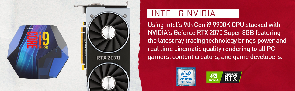 Intel and nvidia Geforce RTX 2070 gaming pc