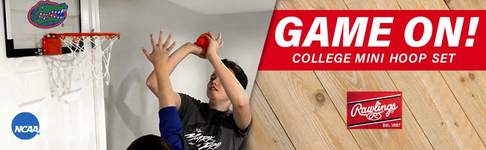 Amazon Com Rawlings Ncaa Game On Polycarbonate Pc Mini Basketball Hoop Set Alabama Crimson Tide Sports Outdoors