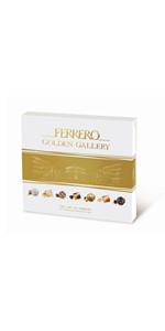 Golden Gallery, gift, chocolate, dark chocolate, milk chocolate, white chocolate, pralines,