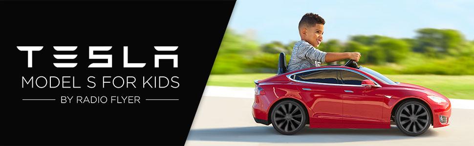 Amazon Com Radio Flyer Tesla Model S For Kids Red Toys Games