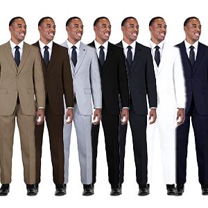 Men's suny stacy adams 3 piece suit