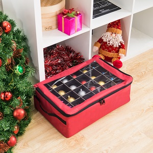 ornament storage box container christmas holiday 24 balls 64 bulbs decoration - Christmas Decoration Storage Containers