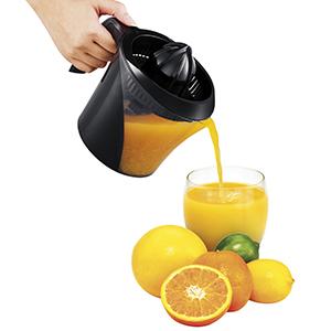 pomelo apto para naranja Exprimidor de c/ítricos el/éctrico acero inoxidable 160 vatios de potencia Silent Motor mango suave y tapa c/ónica lim/ón f/ácil de usar para oficina en casa plateado
