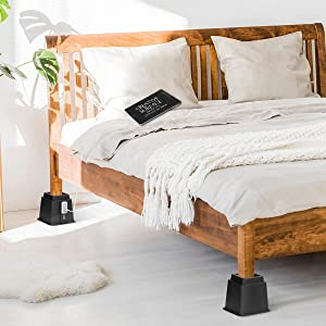 Tuffen Bed Riser with Outlet and USB Ports Furniture Riser Bed Lifts with Puncture Proof Insert