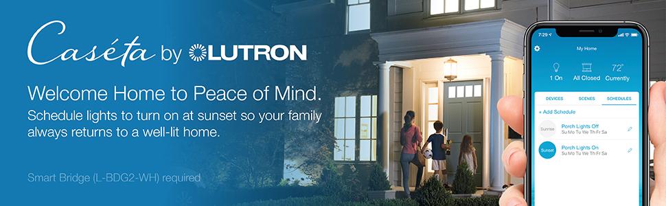 Lutron, Caseta wireless, smart lighting control, smart dimmer switch, smart timer