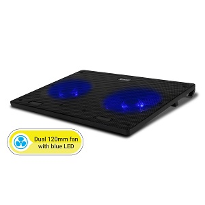 Dual 120mm Fans with Blue LED