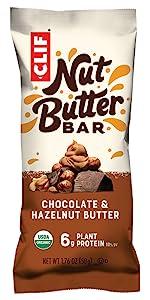 CLIF NUT BUTTER FILLED BAR ENERGY BAR USDA ORGANIC CLIF BAR HAZELNUT BUTTER
