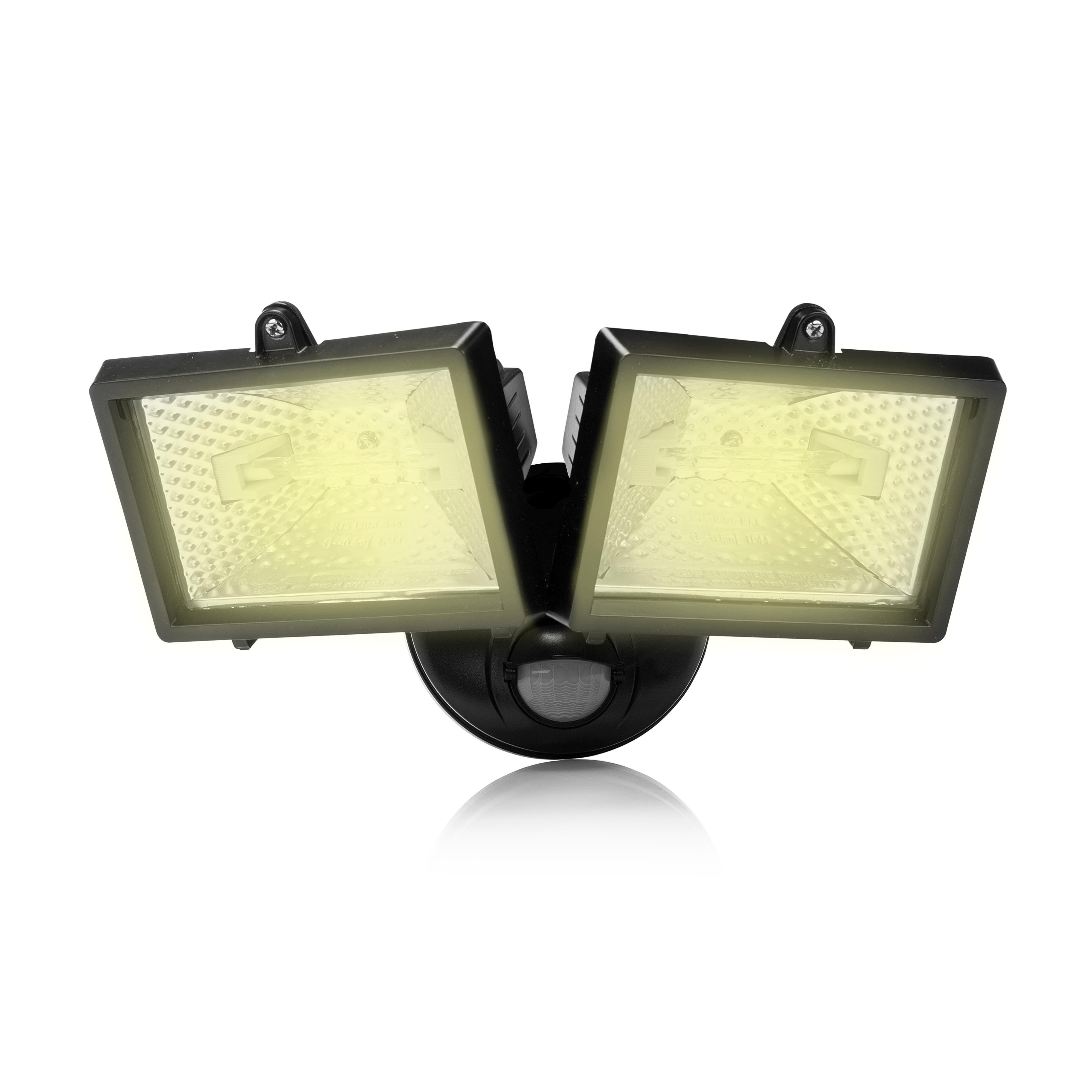 Ahuyente a los ladrones con la luz de seguridad Smartwares ES120. El reflector con detector de movimiento se enciende automáticamente cuando alguien se ...