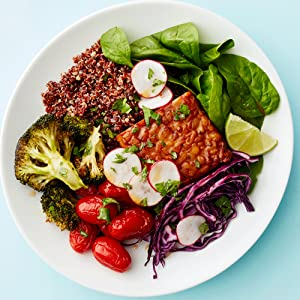 tempeh and roasted vegetable bowl