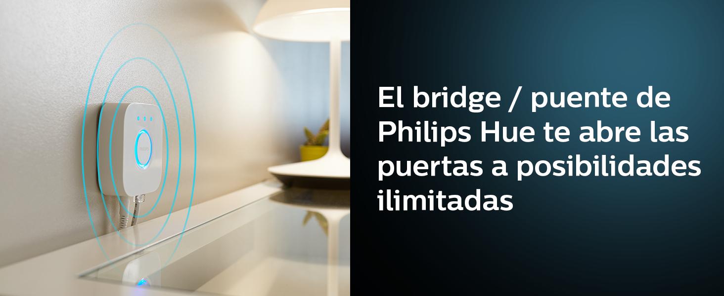 Philips Hue Bloom lámpara bluetooth inteligente: pinta tus paredes con luz blanca y de colores