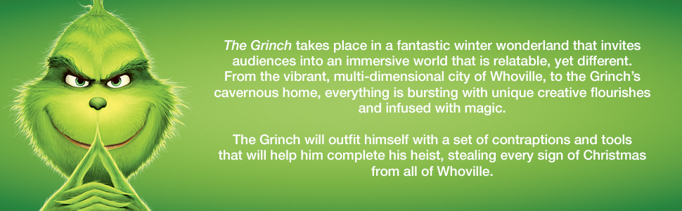 The Grinch, How the grinch stole christmas, holiday movie, christmas, dvd, blu-ray, illumination
