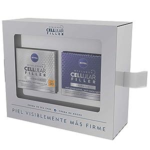 NIVEA Hyaluron Cellular Filler, pack tratamiento antimanchas con ácido hialurónico, caja de regalo con crema de día con FP30 (1 x 50 ml) y sérum facial (1 x 30 ml): Amazon.es
