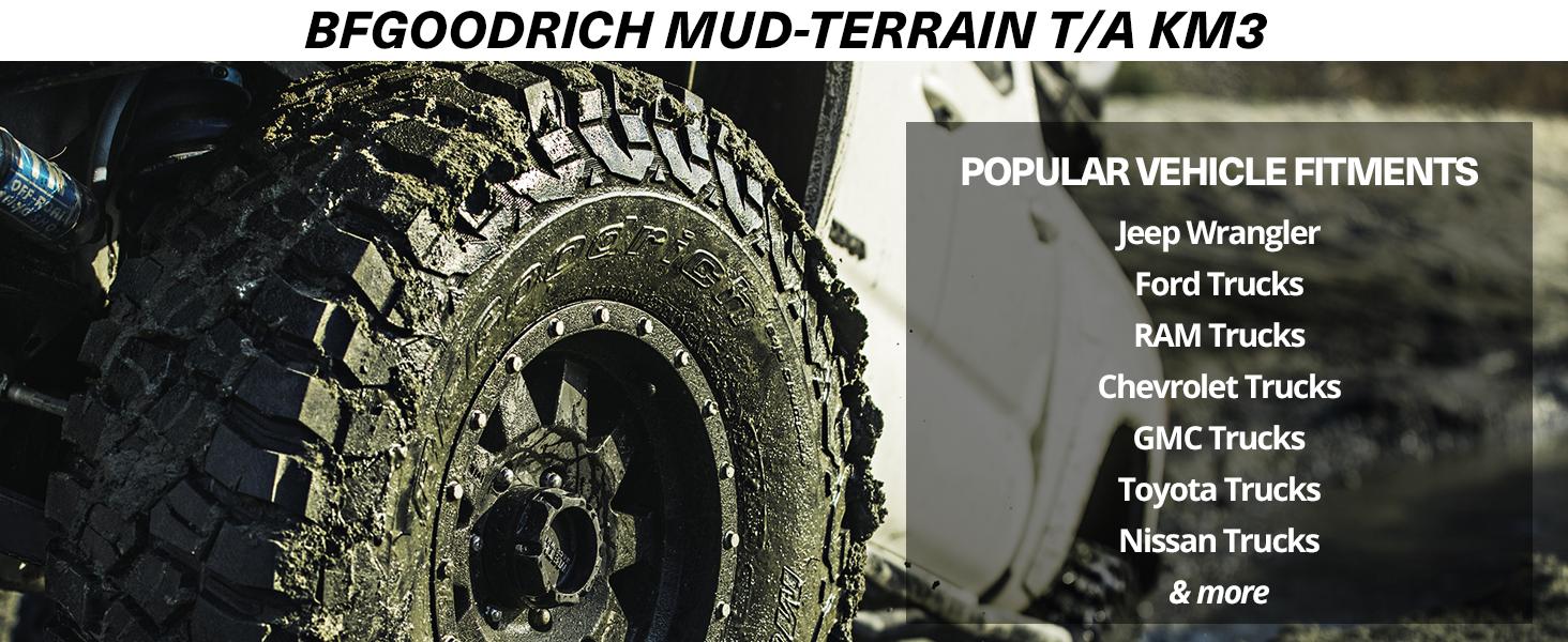 BFGoodrich Mud-Terrain T//A KM3 Radial Tire-31x10.50R15//C 109Q