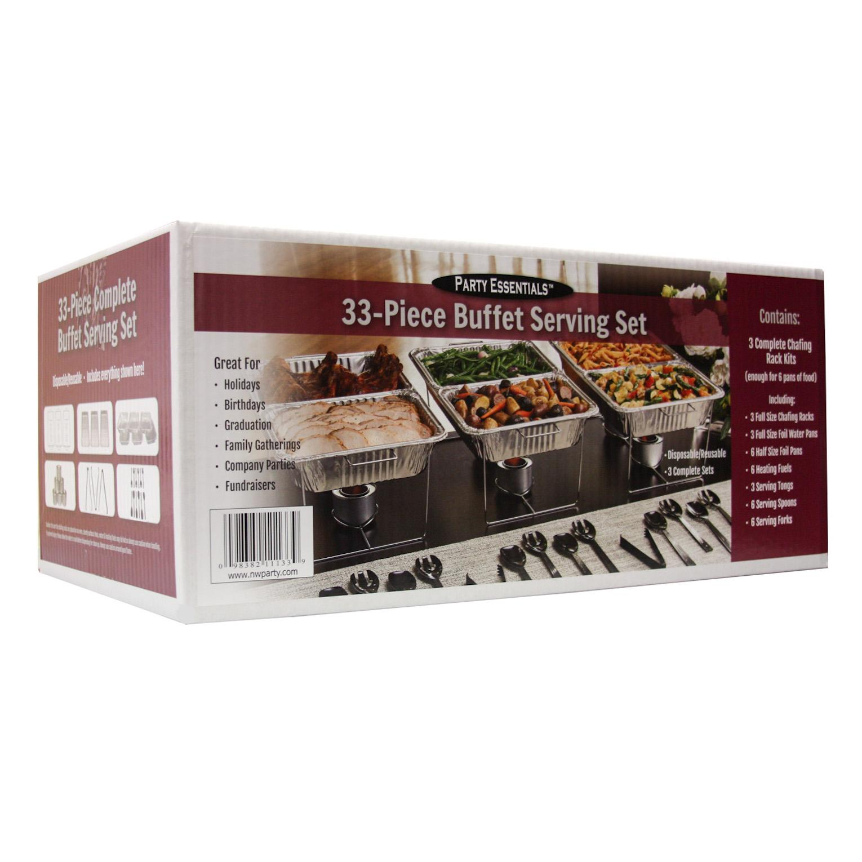 View larger - Amazon.com: Party Essentials UPK-33, 33 Piece Party Serving Kit