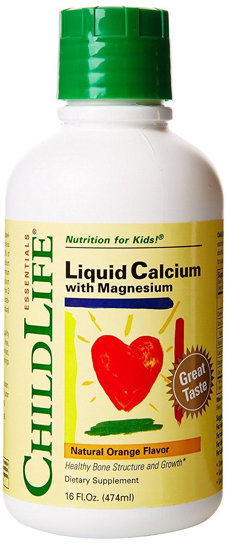 Child Life Liquid Calcium/Magnesium,Natural Orange Flavor Plastic Bottle,  16-Fl  Oz