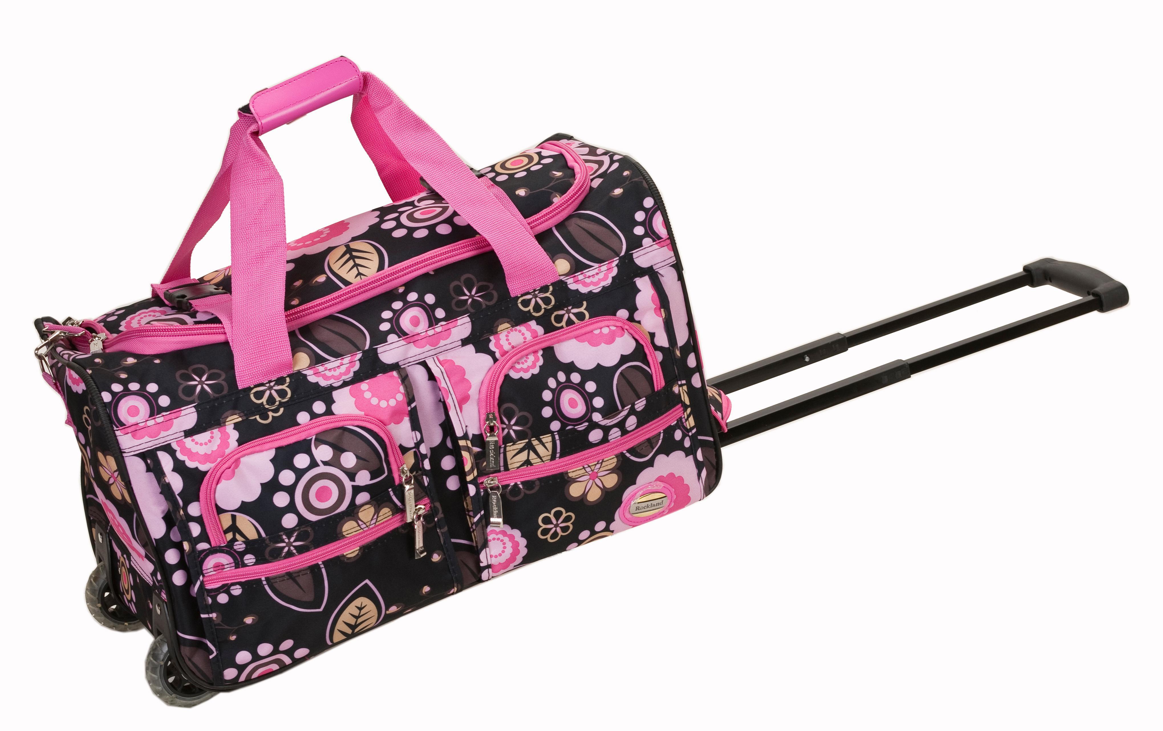 rockland luggage rolling 22 inch duffle bag black